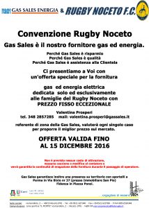 Gas Sales Energia e Rugby Noceto F.C. insieme