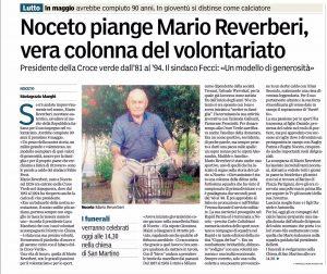 Scomparsa di Mario Reverberi